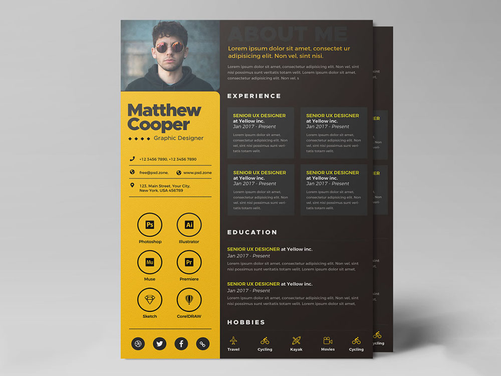 Free Creative Curriculum Vitae Template For Any Job