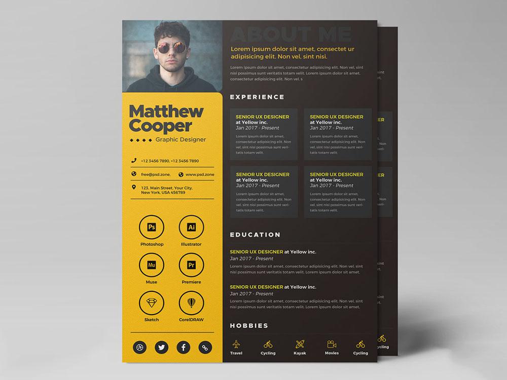 free creative curriculum vitae template for any job