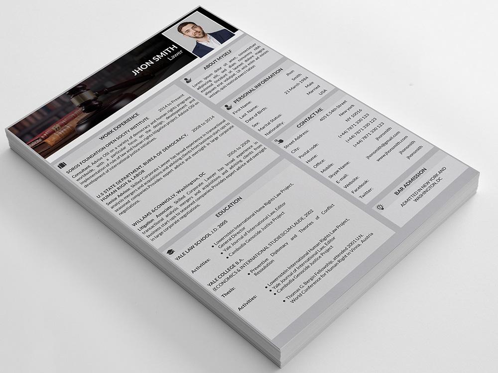 Free Editable CV/Resume Template for Job Seeker