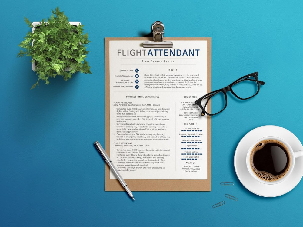Free Flight Attendant Resume Template for Your Next Job Opportunity