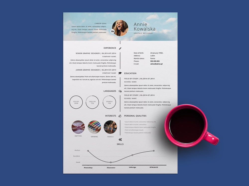 Free Timeline Illustrator Resume Template