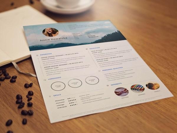 Free Minimalistic CV Resume Template