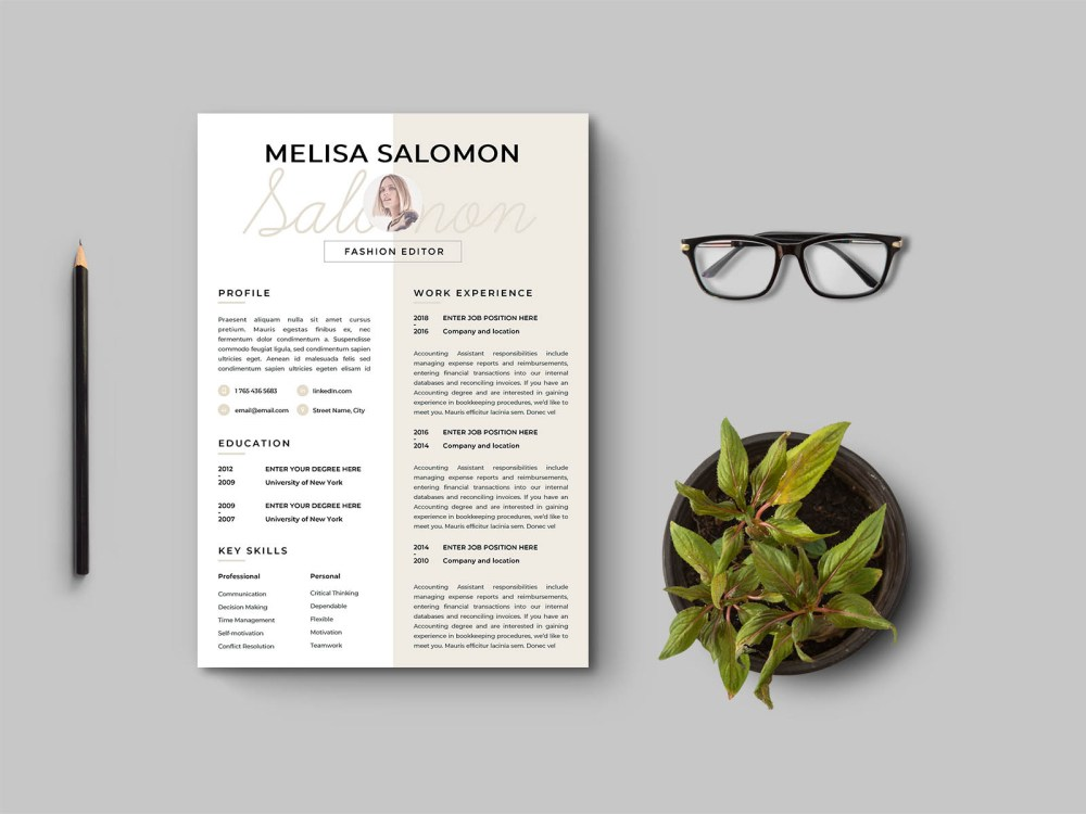 Free Clean and Stylish Resume Template for Job Seeker
