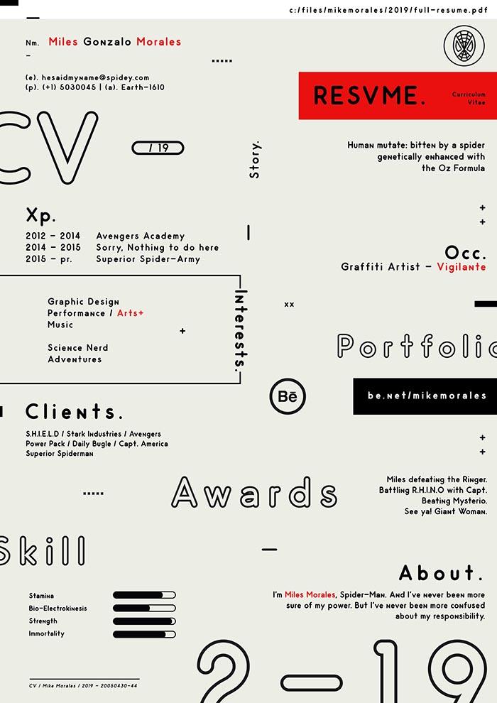 Free Trendy CV Resume Template