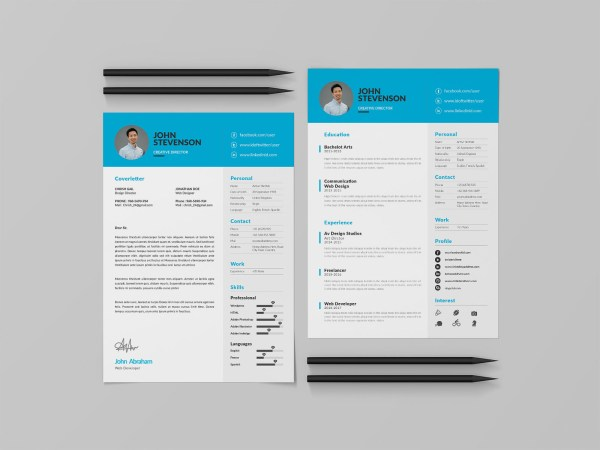 Free Three Pages CV Template