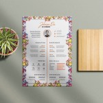 Beautiful Flower Resume