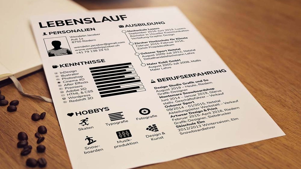 Lebenslauf Resume Free Simple Indesign Resume Template For Job Seeker