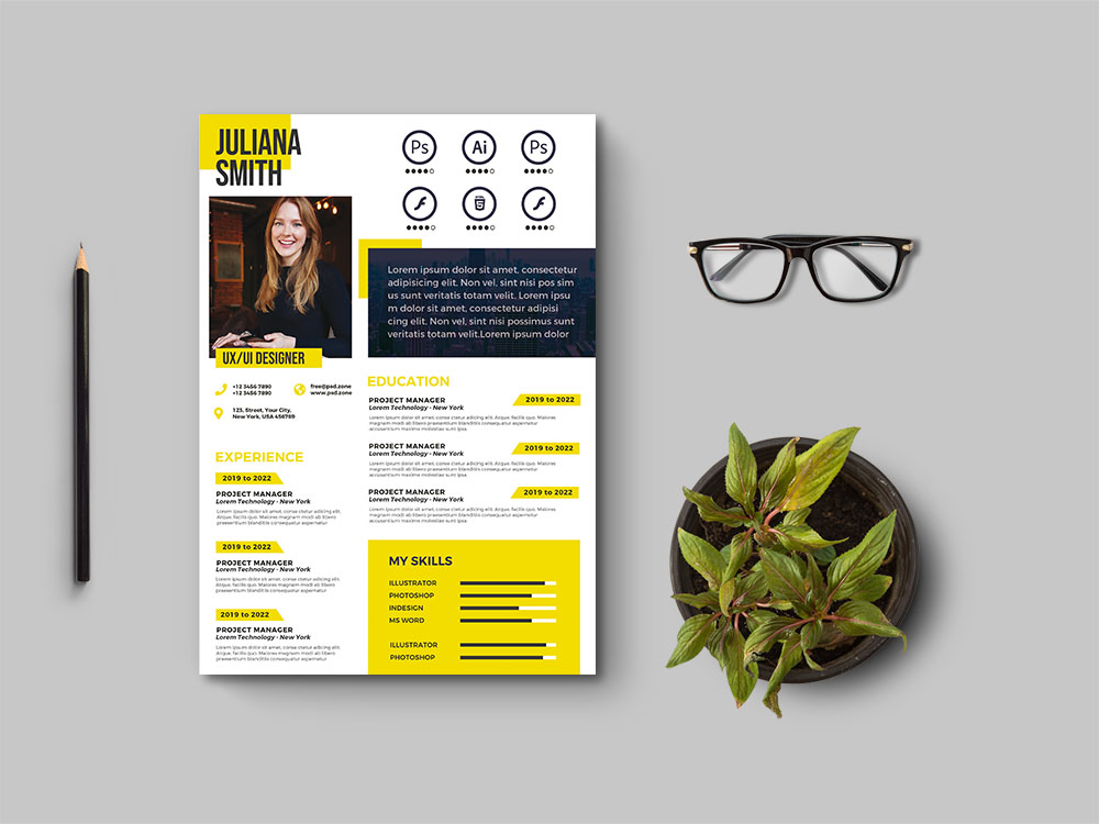 Free Creative A4 Resume Template