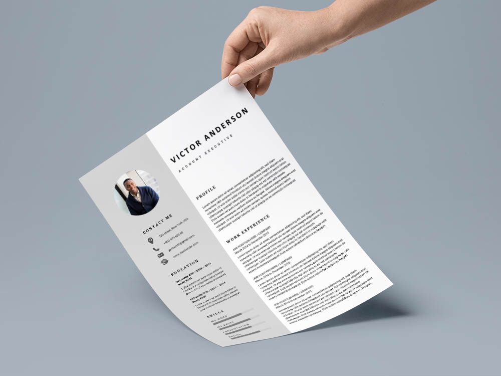 Free Account Executive Resume Template with for Job Seeker