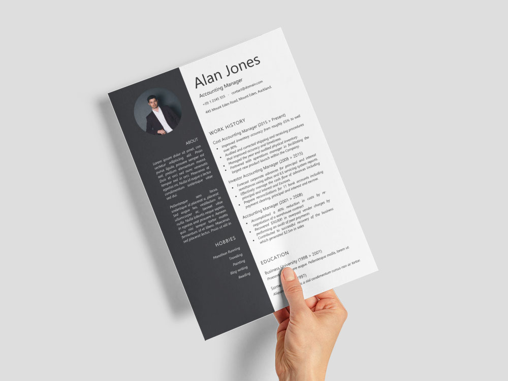 free accounting manager resume template with sample text