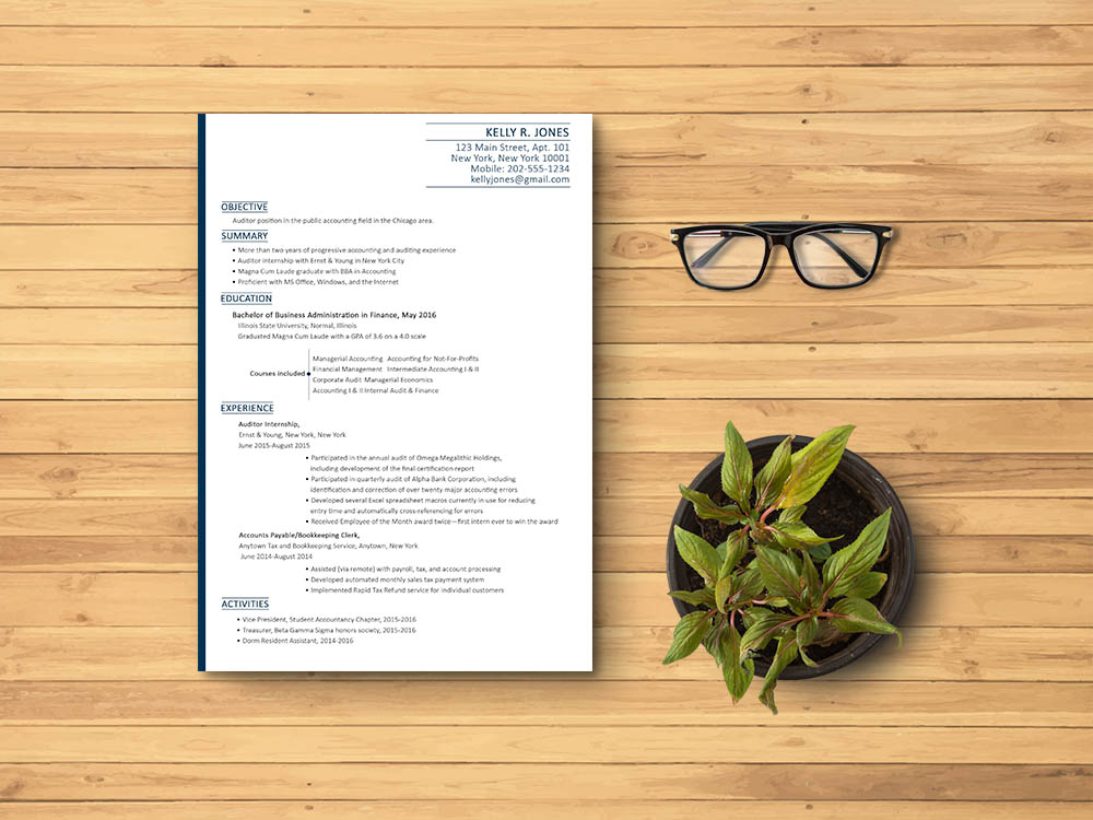 Free Accounting Resume Template