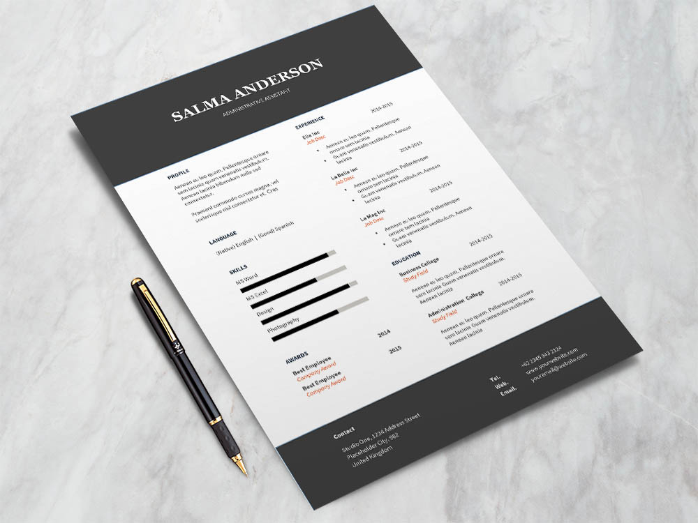 Free Administrative Assistant Resume Template with for Job Seeker