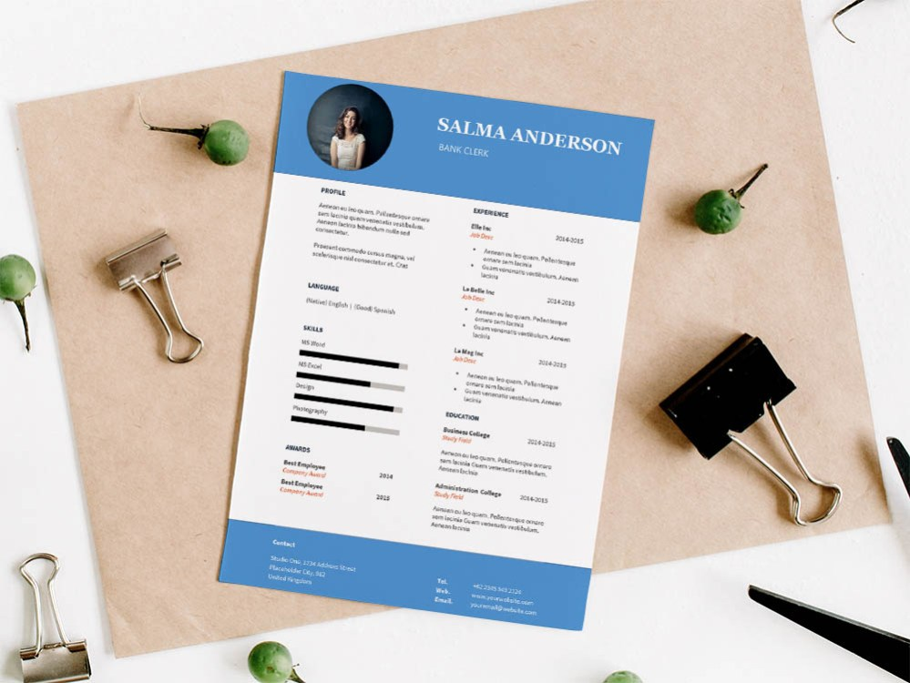 Free Bank Clerk Resume Template