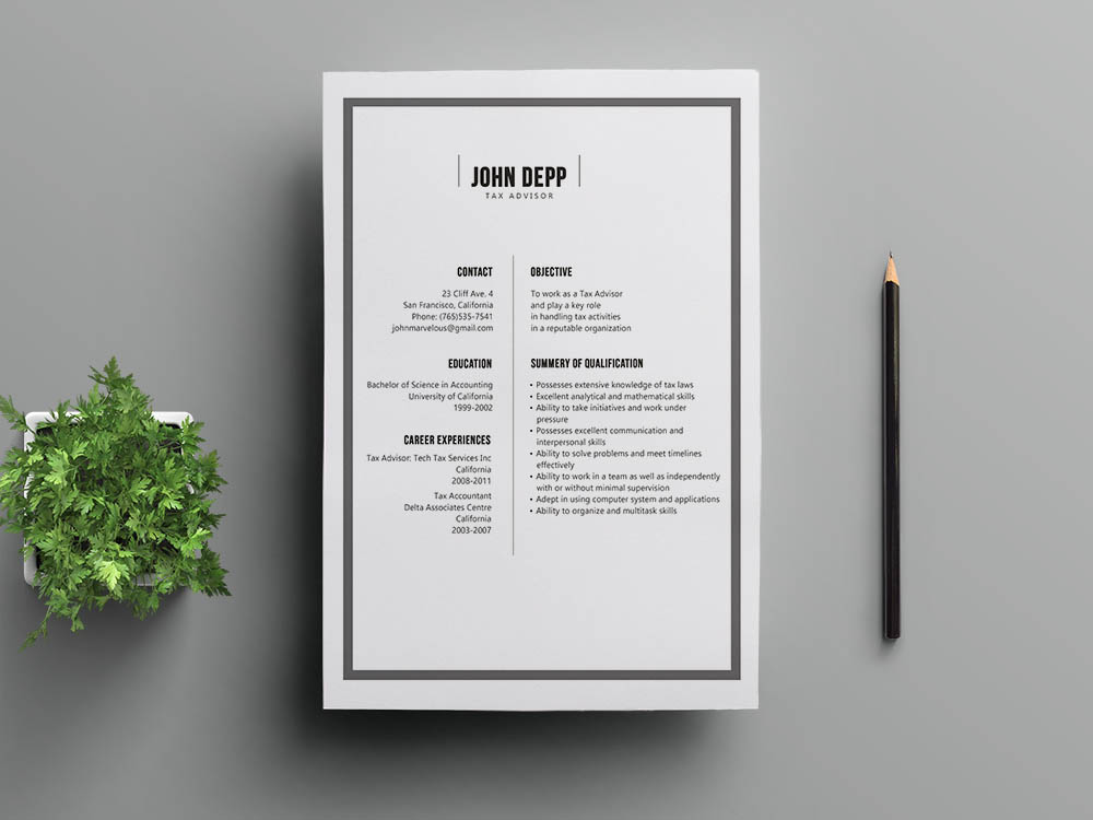 Free Banking Resume Template
