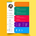 Colorful PSD Resume