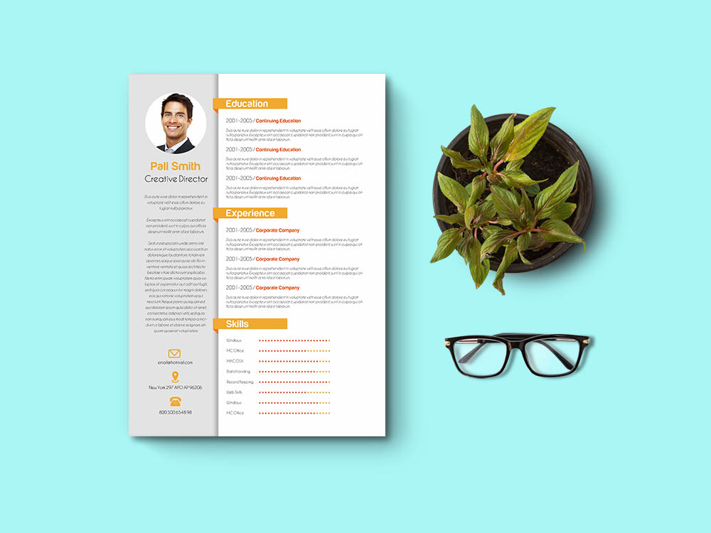 Free Creative CV & Cover Letter Template