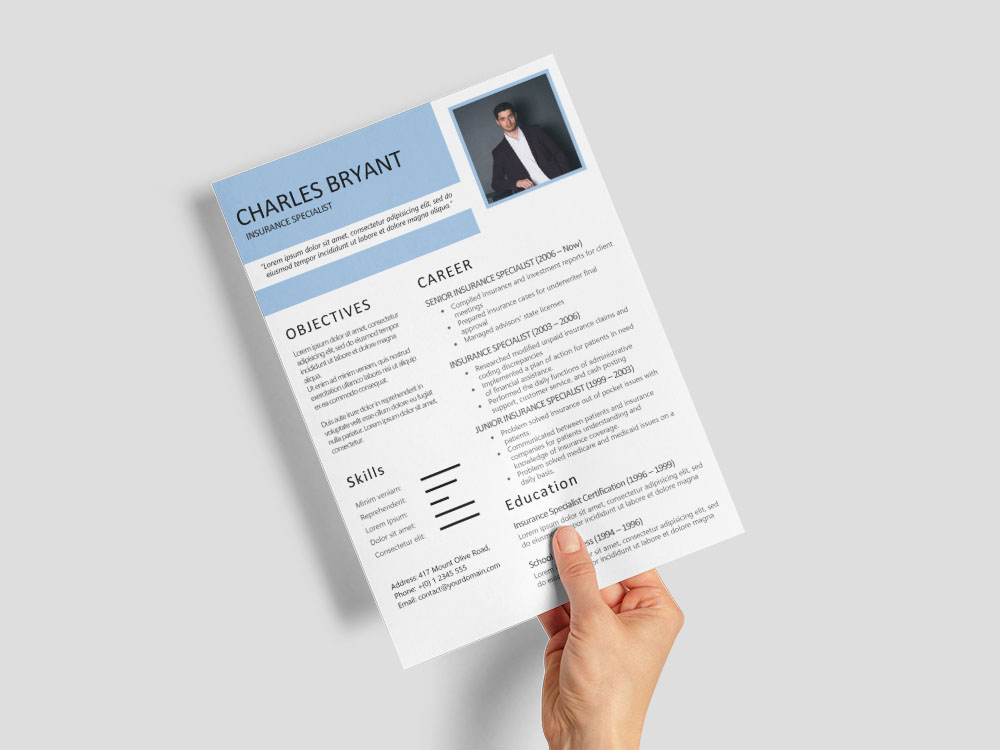 Free Insurance Specialist Resume with Sample Text