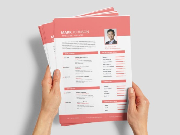 Free Marketing Manager Resume Template with Sample Text