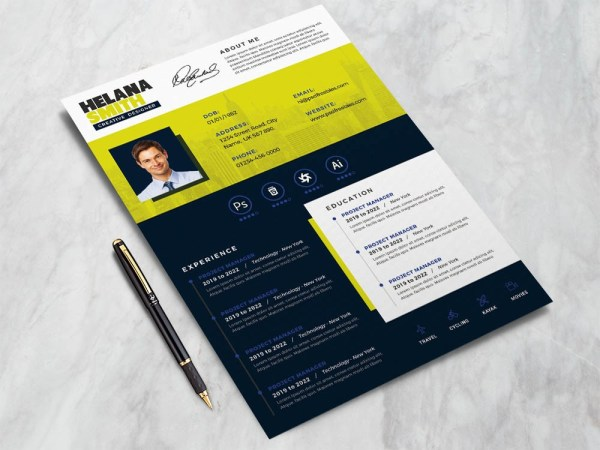 Free Modern Creative Resume Template with Professional Look