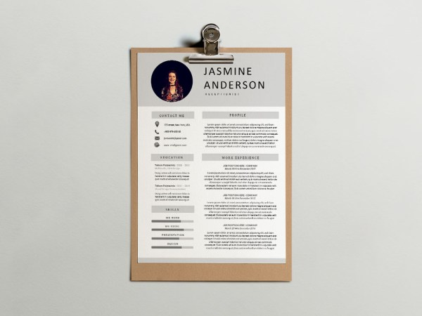 Free Receptionist Resume Template for Job Seeker