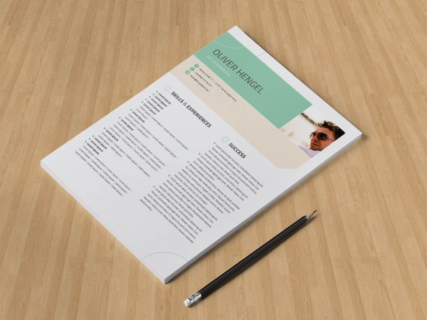 Free Small Size Resume Template