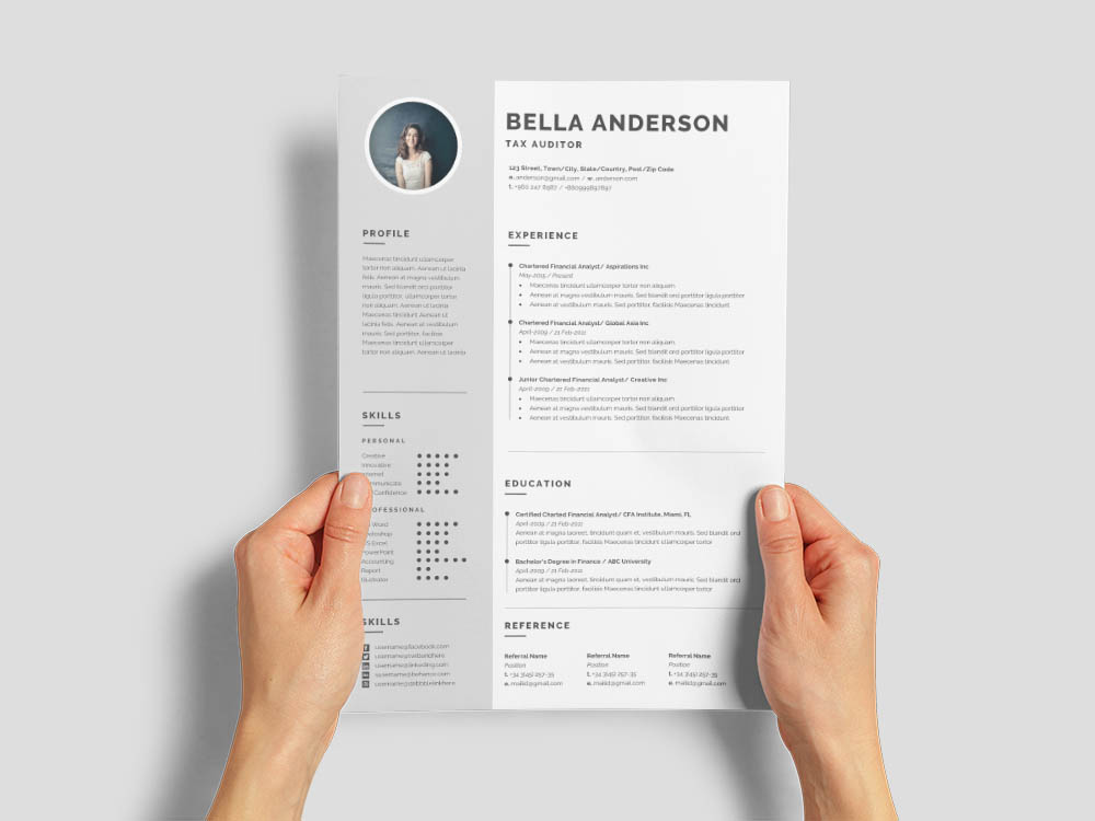 Free Tax Auditor Resume Template