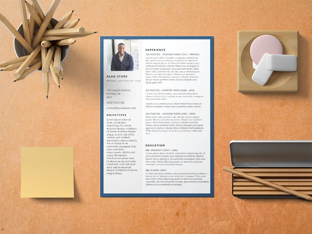 Free Animal Control Officers Resume Template with Professional Look