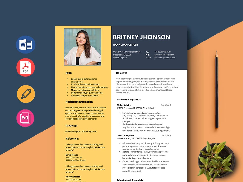 Free Bank Loan Officer Resume Template