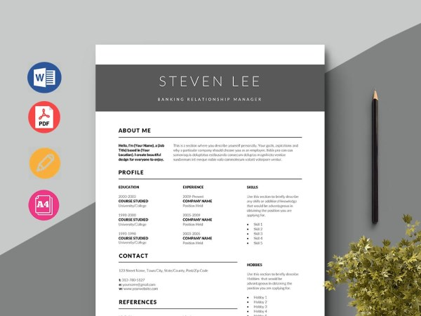 Free Banking Relationship Manager Resume Template