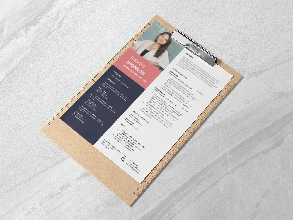 Free Communications Director Resume Template with Professional Look