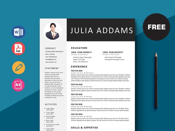 Free Financial Customer Service Representative Resume Template with Clean Look