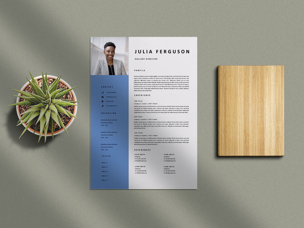 Free Gallery Director Resume Template with Clean and Professional Look