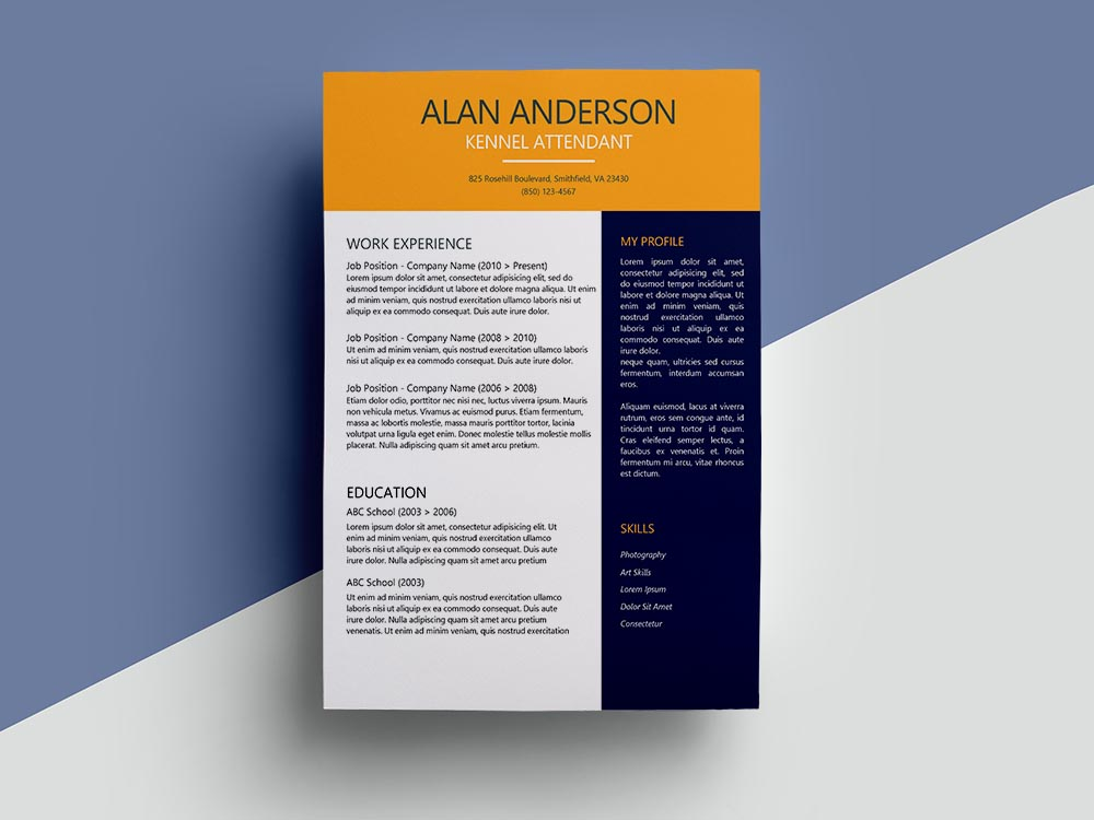 Free Kennel Attendant Resume Template with Clean Look