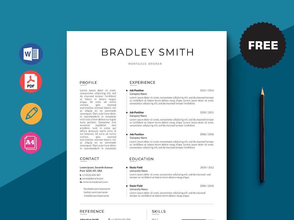 Free Mortgage Broker Resume Template