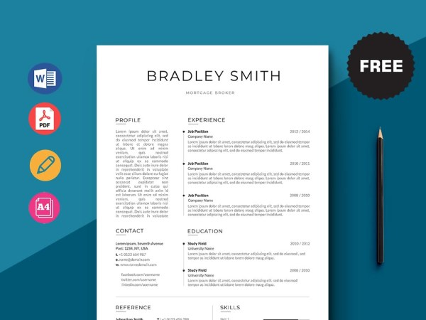 Free Mortgage Broker Resume Template