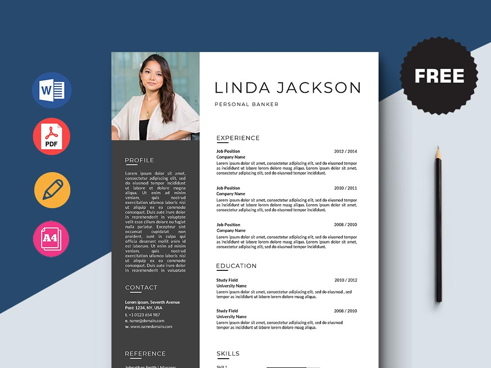 Free Personal Banker Resume Template
