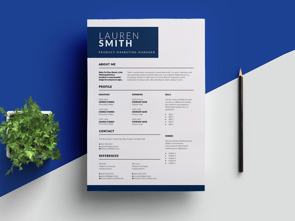 Free Product Marketing Manager Resume Template with Professional Look