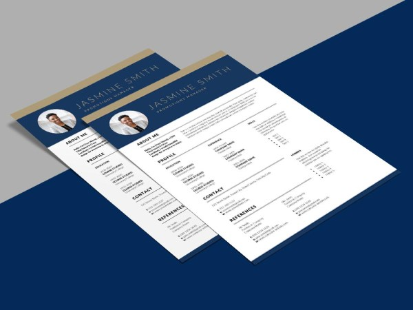 Free Promotions Manager Resume Template with Professional Look