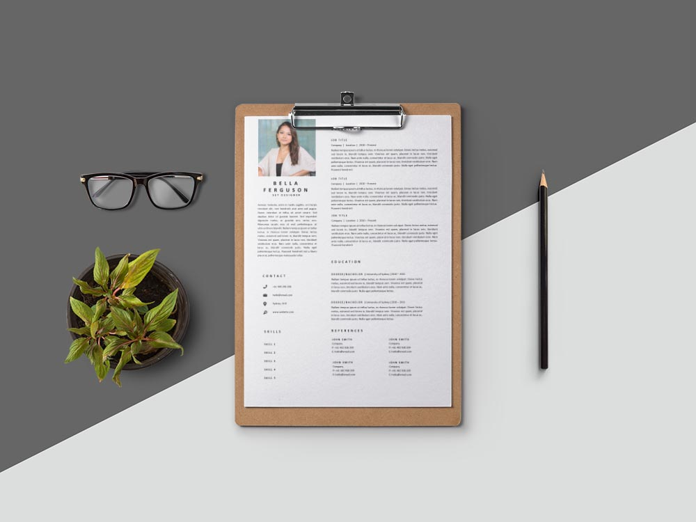 Free Set Designer Resume Template with Clean and Professional Look