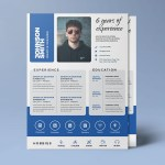 A4 Paper Resume Template