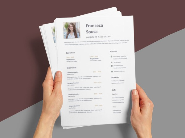 Free Assistant Accountant Resume Template