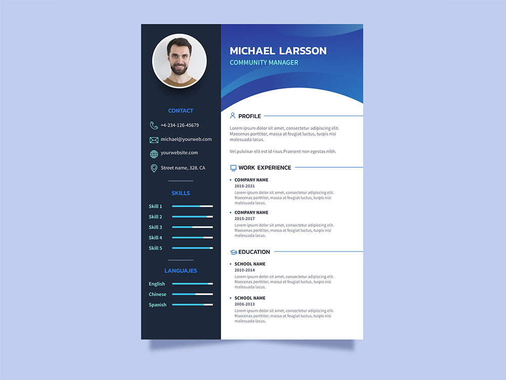 Free Community Manager Resume Template
