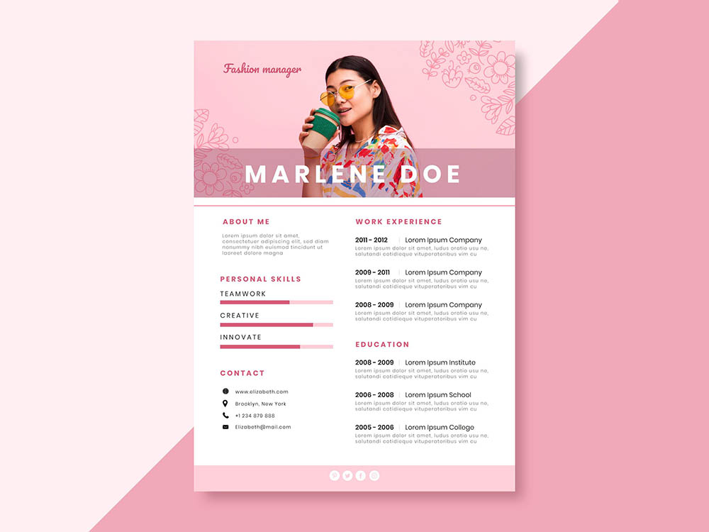Free Fashion Manager Resume Template