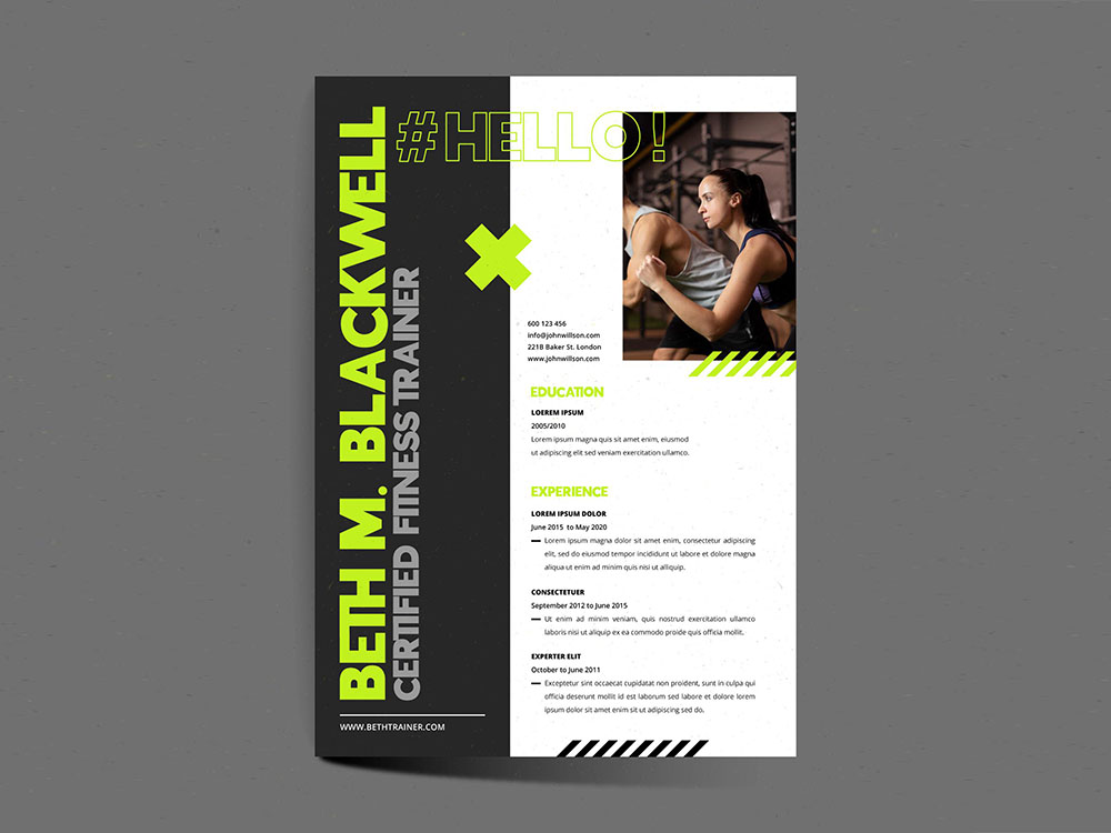 Free Fitness Trainer Resume Template