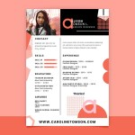 Geometric Fashion Resume