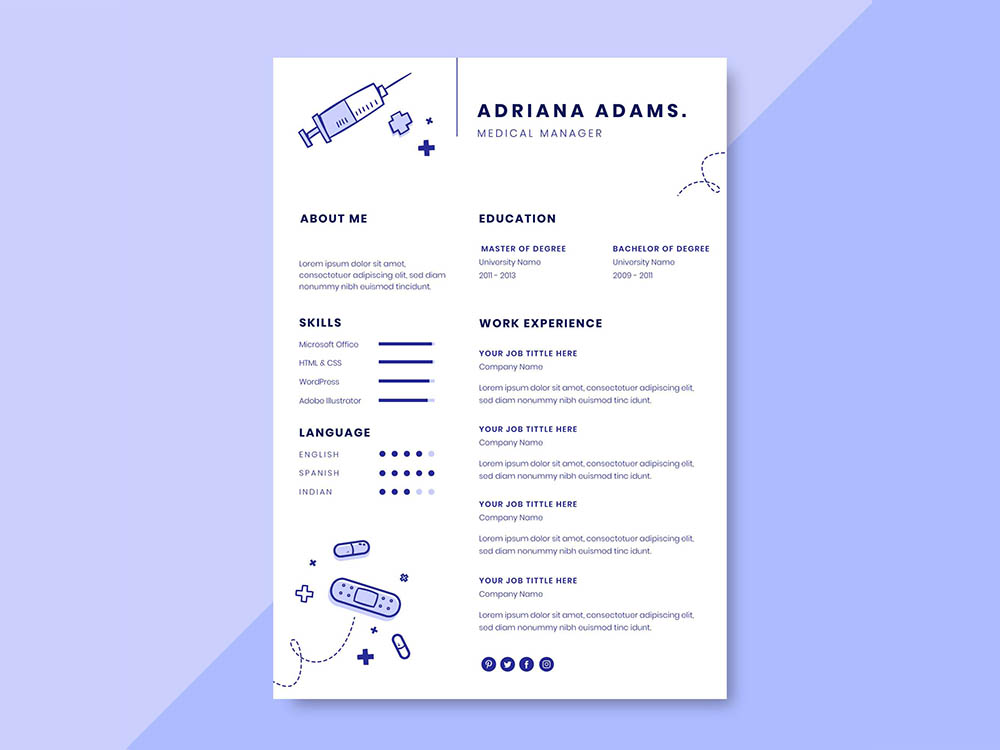 Free Medical Manager Resume Template