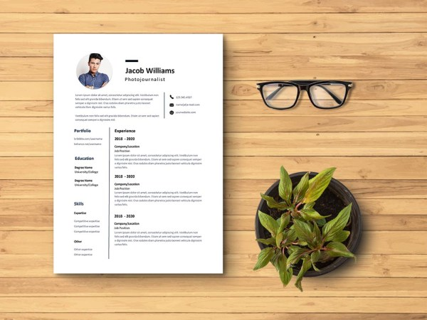 Free Photojournalist Resume Template
