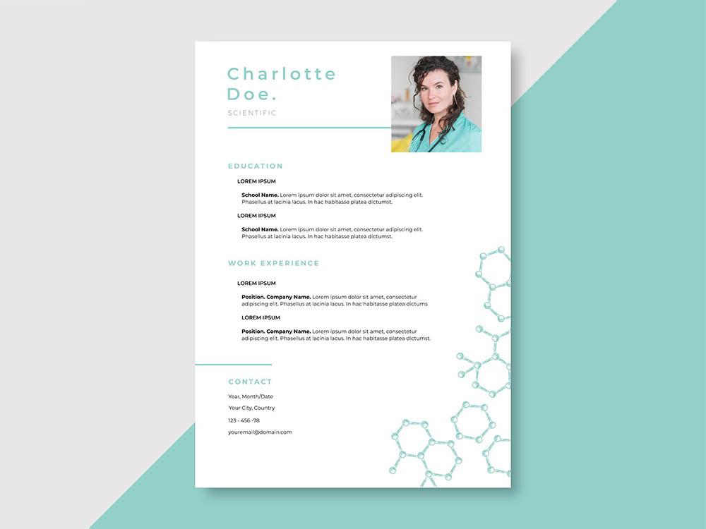 Free Scientific Resume Template