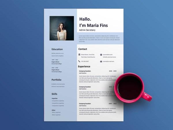 Free Admin Secretary Resume Template
