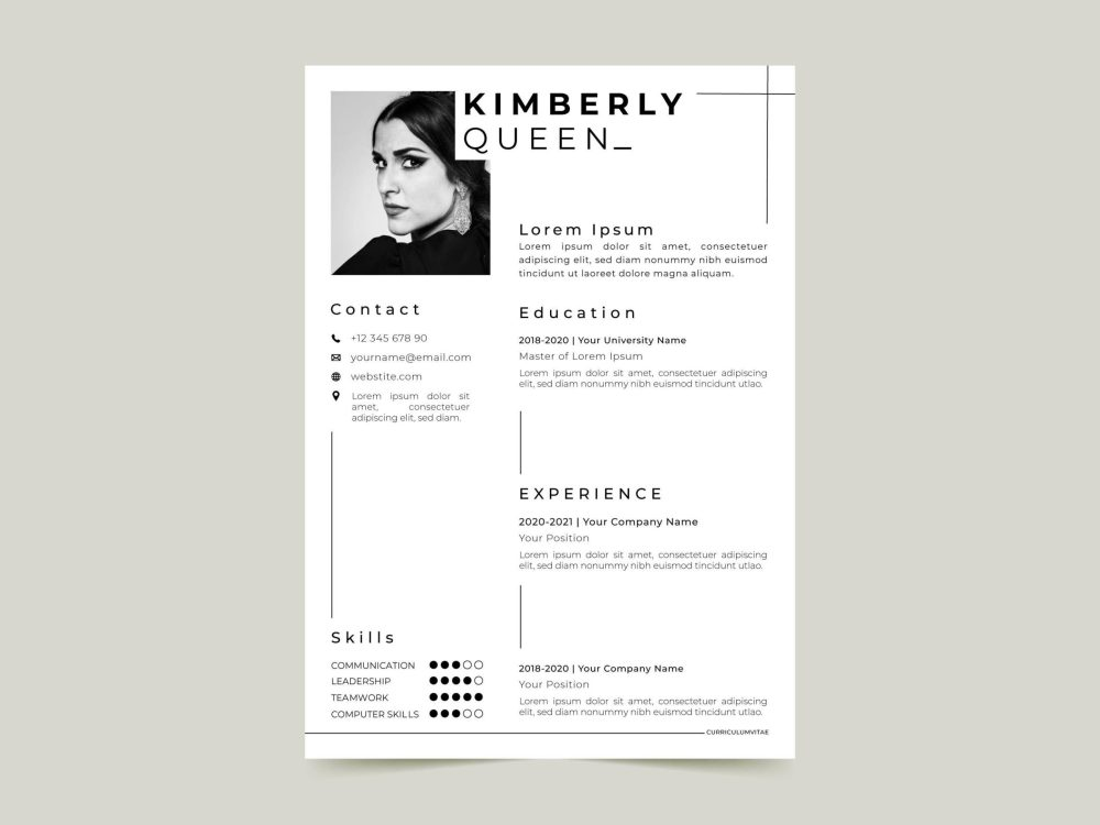Free Artist Manager Resume Template